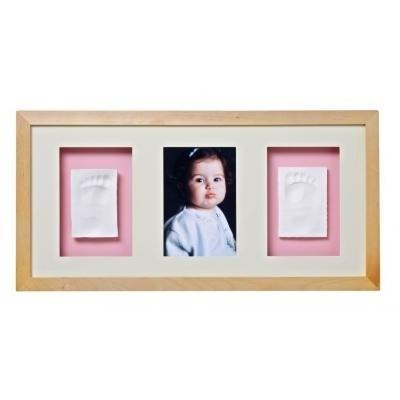 Baby Memory Print Рамка за стена 1 снимка + 2 отливки натурал 052